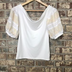 Free people puff sleeve top size small